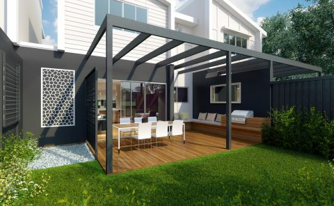 Australian House backyard